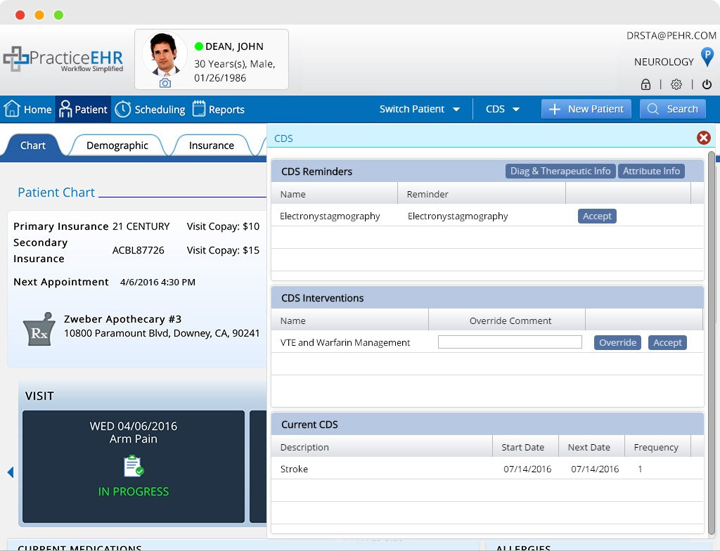 Clinical Decision Support EHR