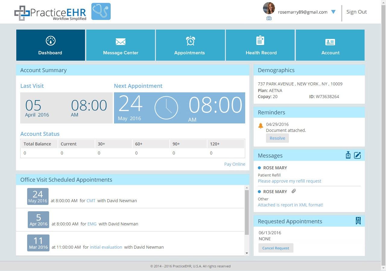 Patient Portal EHR